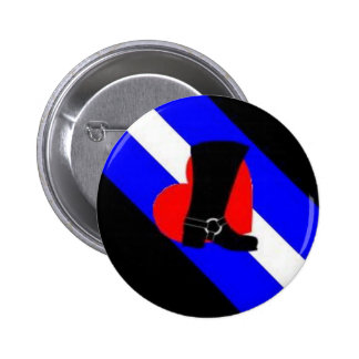 bootblack pride flag 6 cm round badge