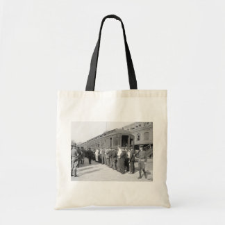 Booted from Hoboken, early 1900s Canvas Bag