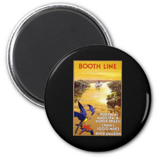 Booth Line to Portugal Madeira 6 Cm Round Magnet
