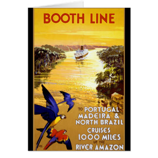 Booth Line to Portugal Madeira Card