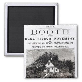 Booth of the Blue Ribbon Movement, 1883 Square Magnet