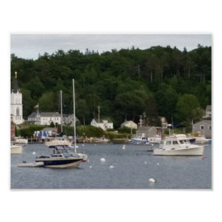"Boothbay Harbor 11"" x 8.5"" Poster Paper (Matte)"