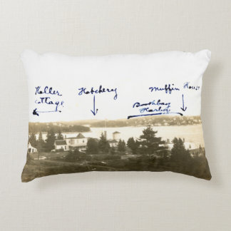 Boothbay Harbor, Maine Postcard Decorative Cushion