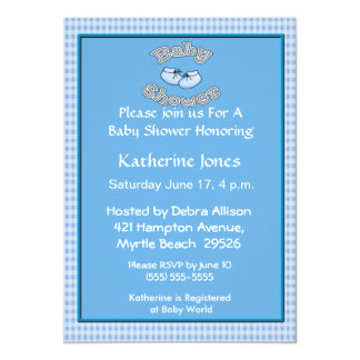 Booties Baby Shower Invitation