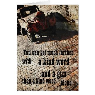 Bootlegger wisdom greeting card