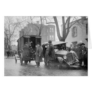 Bootlegger's Wrecked Car, 1922 Card