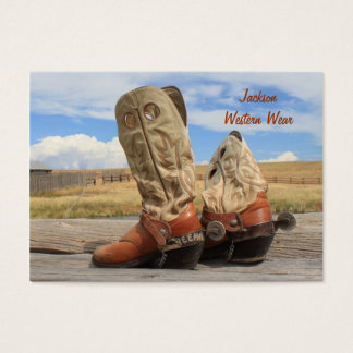 Boots and Spurs Western Business Card
