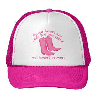 Boots Are Made for Stomping out Breast Cancer Mesh Hats