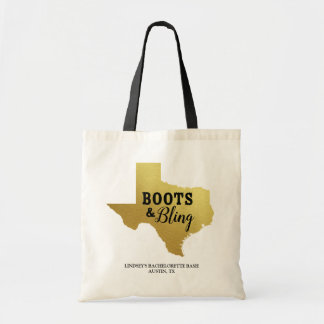 Boots & Bling Canvas Tote Bag