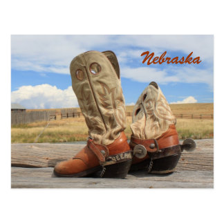 Boots from Nebraska Postcard