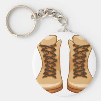 Boots Basic Round Button Keychain