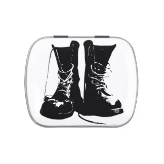 Boots Military Free Peace Love Art Party Destiny Jelly Belly Candy Tins
