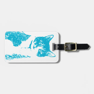 Boots the Cat in Blue Luggage Tag