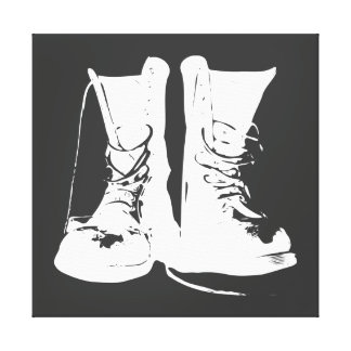 Boots (White Version) Stretched Canvas Prints