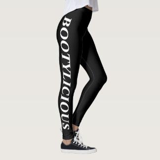 BOOTYLICIOUS Black Leggings with White Leggings
