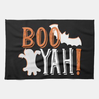 booyah cute halloween tea towel