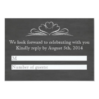 Booze, Food, And Bad Dance Moves Chalkboard RSVP 9 Cm X 13 Cm Invitation Card