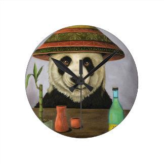 Boozer 4 with Panda Round Clock