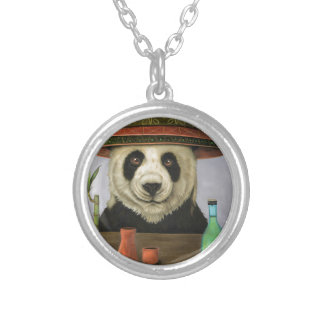 Boozer 4 with Panda Silver Plated Necklace