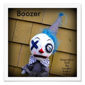 Boozer the Clown Art Doll Print Art Photo