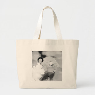 bopeepsheepb&w large tote bag