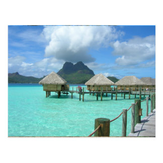 Bora Bora Bungalow Postcard