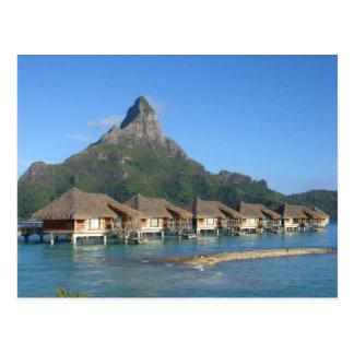 Bora Bora Huts Postcard