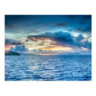 Bora-bora, South Pacific island Postcard