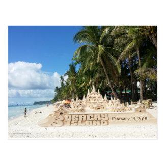 Boracay Beautiful Castle - Customize DATE Postcard