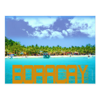 Boracay Beautiful Day Sight and Green Palm Trees! Postcard