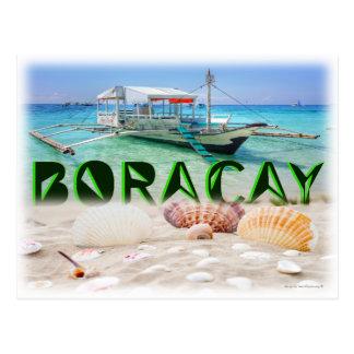 Boracay Island's Unique Boat Postcard