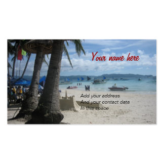 Boracay Pack Of Standard Business Cards