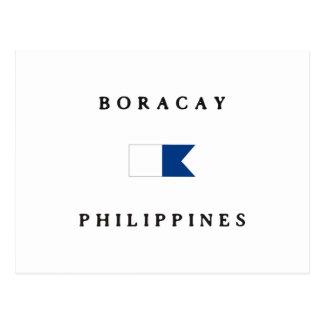 Boracay Philippines Alpha Dive Flag Post Card