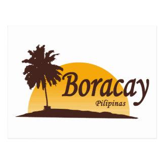 Boracay white postcard