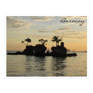 boracay willys rock postcard