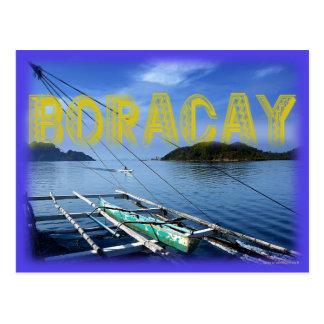 Boracay's  Calm and Pristine Water Postcard