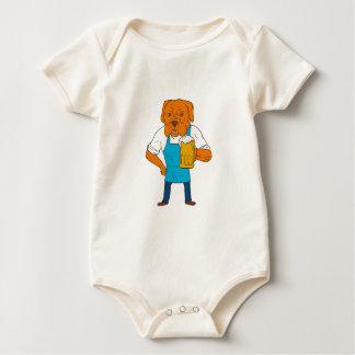 Bordeaux Dog Brewer Mug Mascot Cartoon Baby Bodysuit