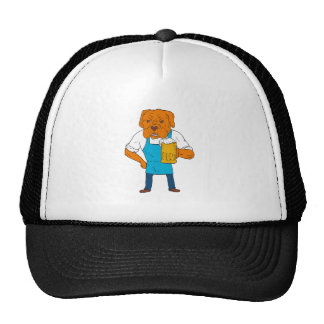 Bordeaux Dog Brewer Mug Mascot Cartoon Cap