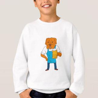 Bordeaux Dog Brewer Mug Mascot Cartoon Sweatshirt