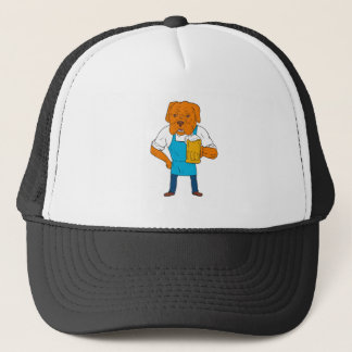 Bordeaux Dog Brewer Mug Mascot Cartoon Trucker Hat