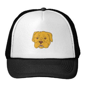Bordeaux Dog Head Cartoon Cap