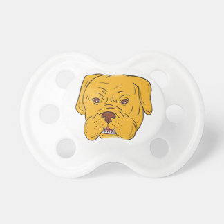 Bordeaux Dog Head Cartoon Pacifiers