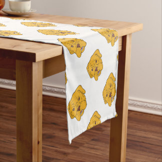 Bordeaux Dog Head Cartoon Short Table Runner