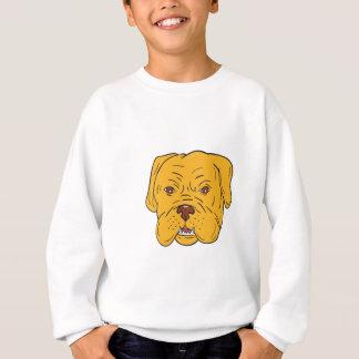Bordeaux Dog Head Cartoon Sweatshirt