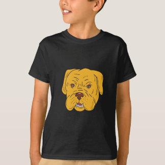 Bordeaux Dog Head Cartoon T-Shirt