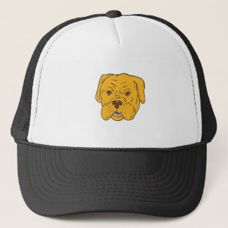 Bordeaux Dog Head Cartoon Trucker Hat