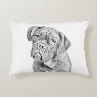 Bordeaux dogue dog portrait decorative cushion