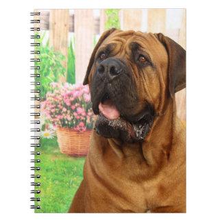 Bordeaux Mastiff Spiral Notebook