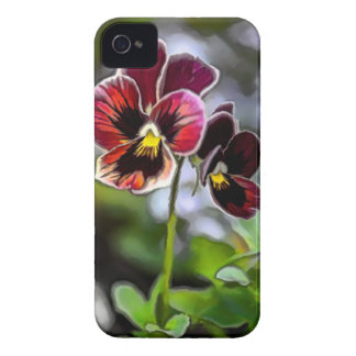 Bordeaux Pansy Flower Duo Case-Mate iPhone 4 Cases