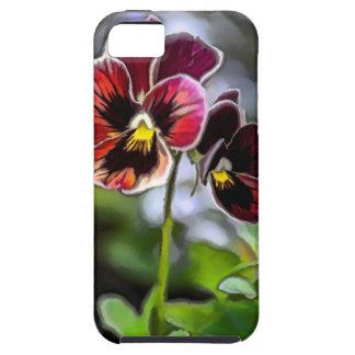 Bordeaux Pansy Flower Duo iPhone 5 Case